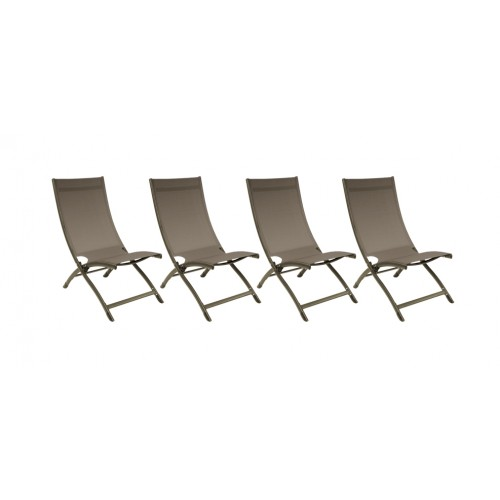 acheter chaise longue taupe