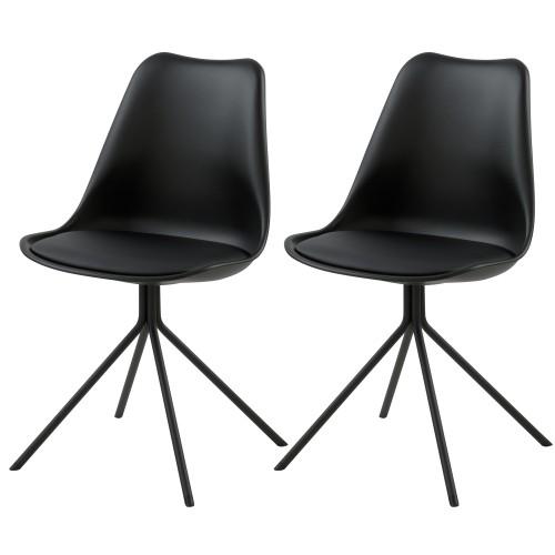 acheter chaise lot de 2 noires