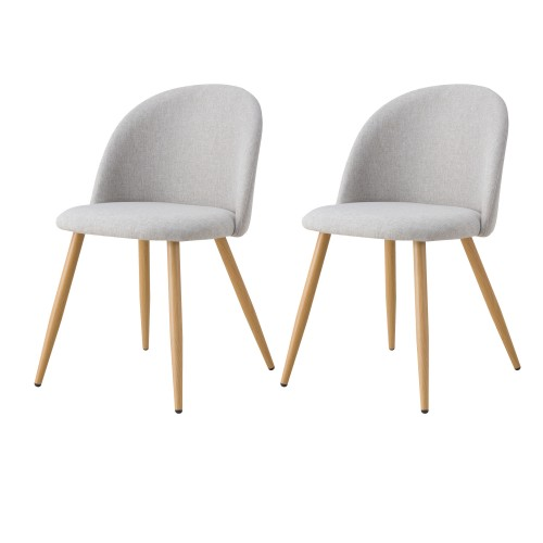 acheter chaise lot de 2 scandi