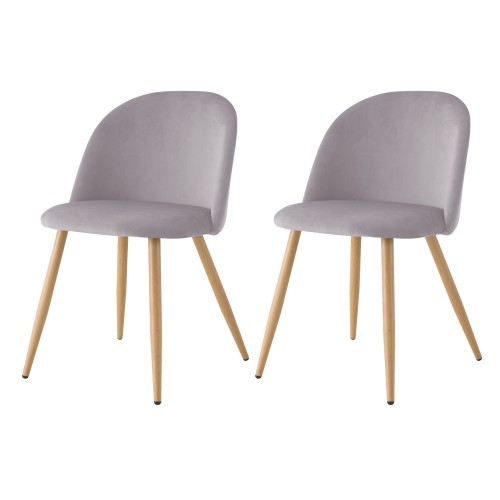 acheter chaise lot de 2 scandinave-grises