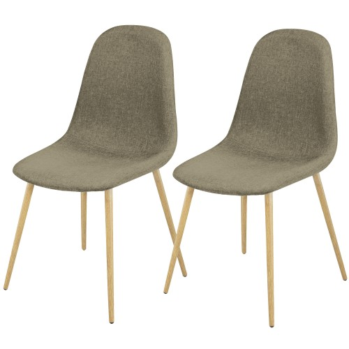 Chaise Fredrik taupe (lot de 2)