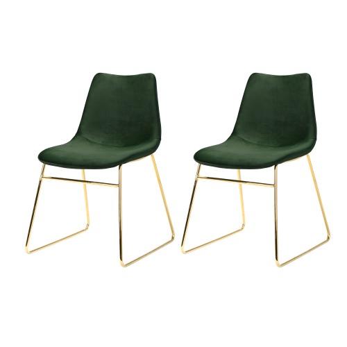 acheter chaise lot de 2 velours et metal