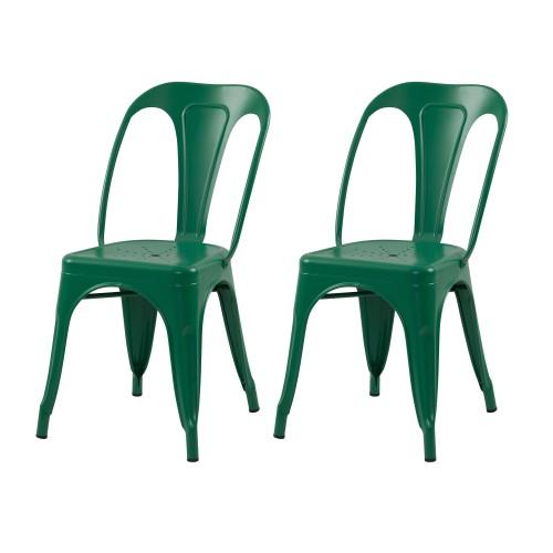 acheter chaise lot de 2 verte indus