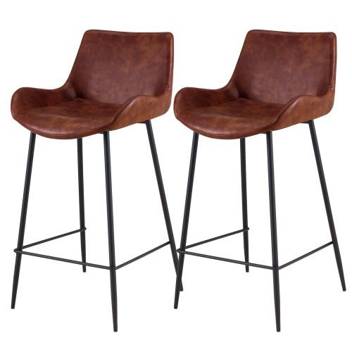 Chaise de bar mi-hauteur Pirata marron 65 cm (lot de 2)