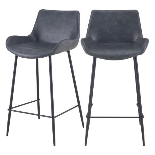 acheter chaise mi hauteur noire pieds noirs lot de 2