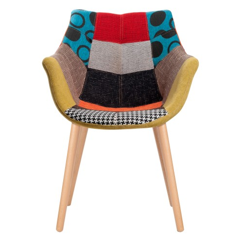 Fauteuil patchwork multi couleur Twelve (lot de 2) - Zuiver