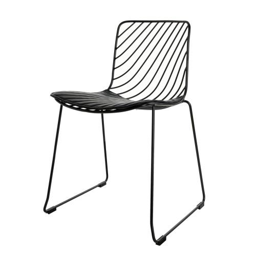 acheter chaise noire design en metal