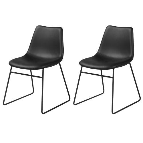 acheter chaise noire simili cuir