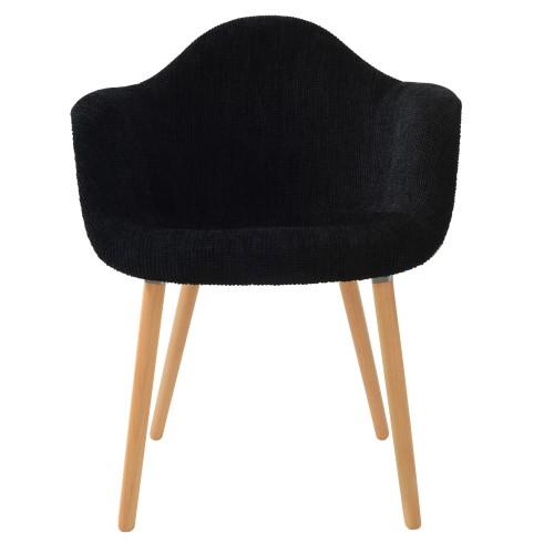 acheter chaise noire tissu
