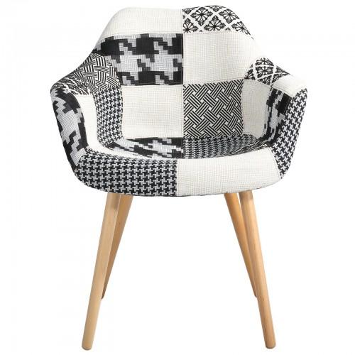 chaise anssen patchwork gris prix bas