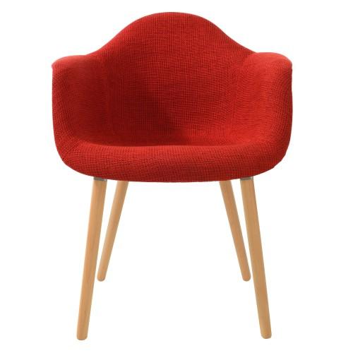 acheter chaise rouge tissu