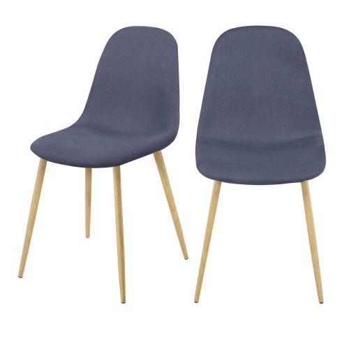 acheter chaise scandinave bleu lot de 2