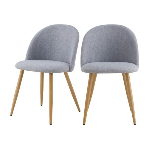 acheter chaise scandinave gris clair lot de 2