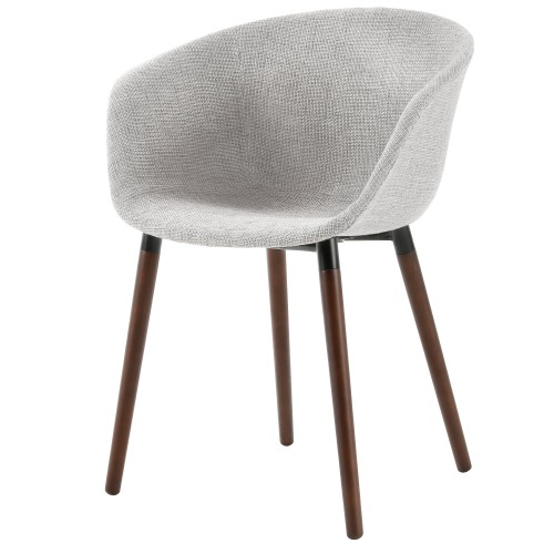 acheter chaise tissu gris pieds bois de hetre