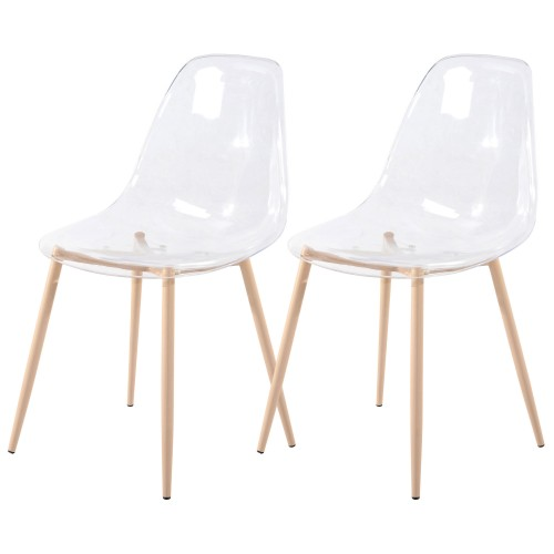 Chaise Fredrik transparente (lot de 2)