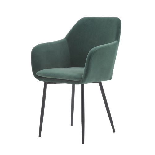 acheter chaise verte pieds noirs