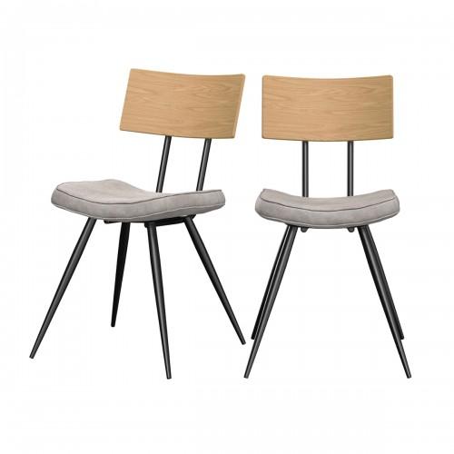acheter chaise vintage assise gris synthetique