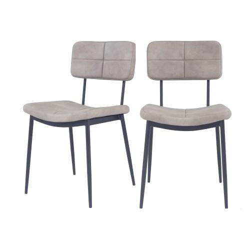 Chaise grise Igor (lot de 2)