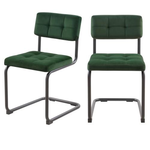 acheter chaises confortables vertes fonce