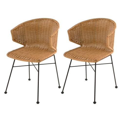 acheter chaises en resine couleur naturelle