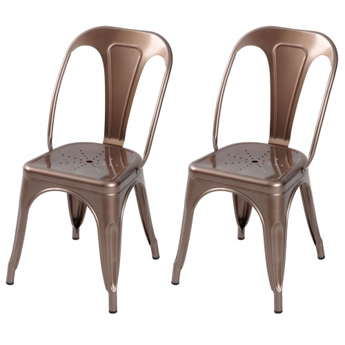Chaise Indus cuivre (lot de 2)