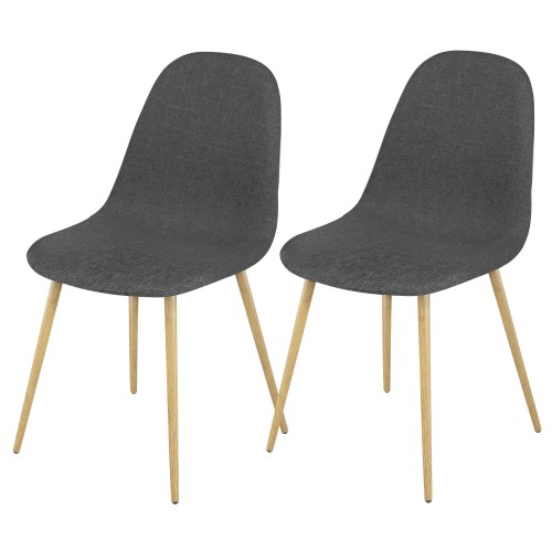 Chaise Fredrik grise (lot de 2)