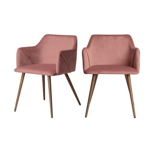 acheter chaises roses velours art deco