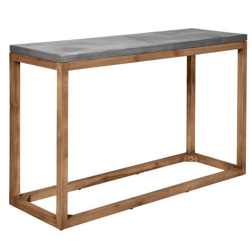 acheter console en beton pieds bois