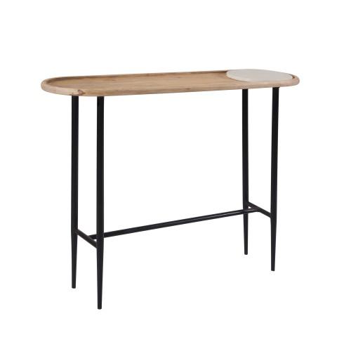 acheter console en bois de manguier pieds metal noir