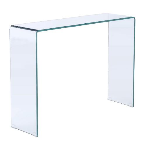 acheter console en verre transparent design
