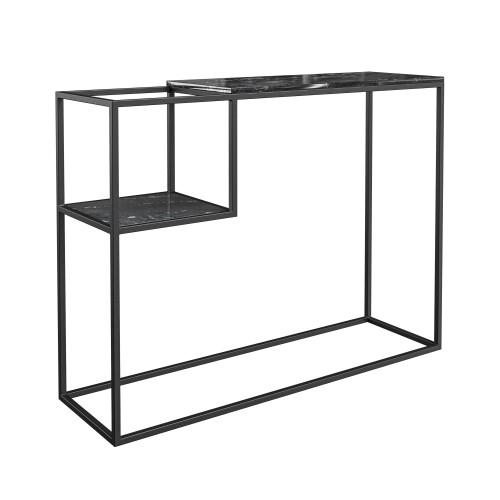 acheter console noire en marbre et metal