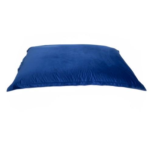 acheter coussin d interieur en velours bleu