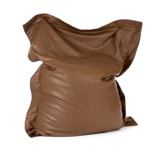 acheter coussin exterieur effet cuir marron