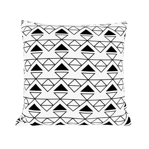coussin carre imprime motif triangles