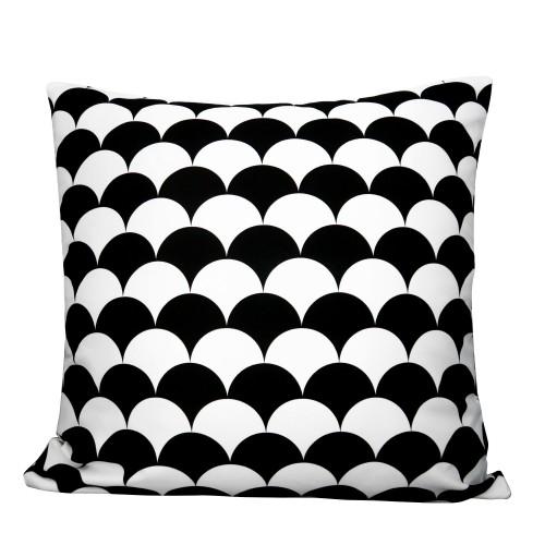 Coussin Eventail noir et blanc