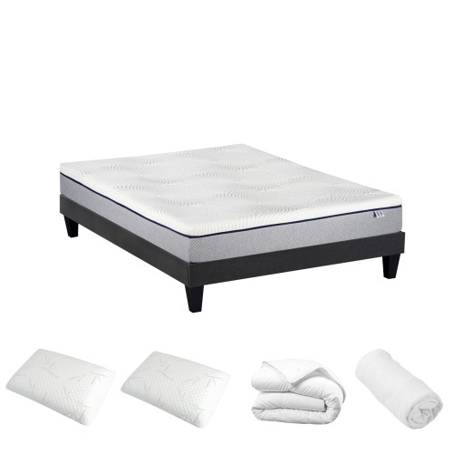 Ensemble prêt à dormir Claros 160x200 cm