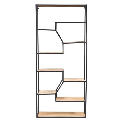 acheter etagere indus bois clair et metal