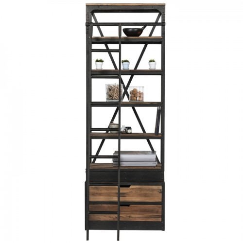 acheter bibliotheque bois et metal