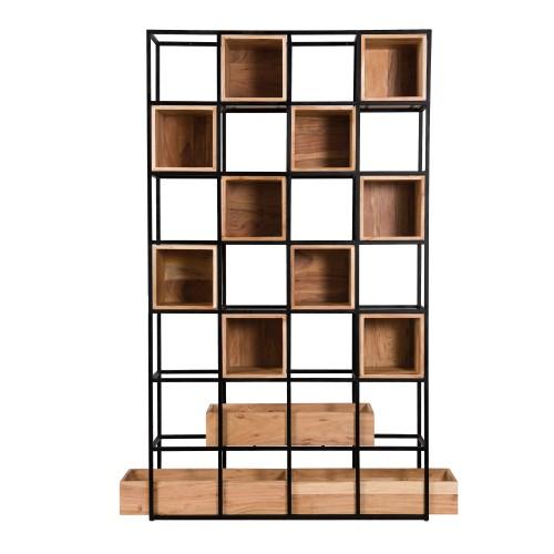 acheter etagere niche bois et metal