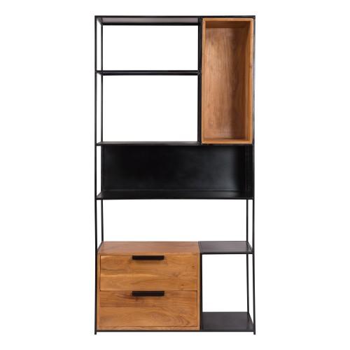 acheter etagere tiroirs niches en bois
