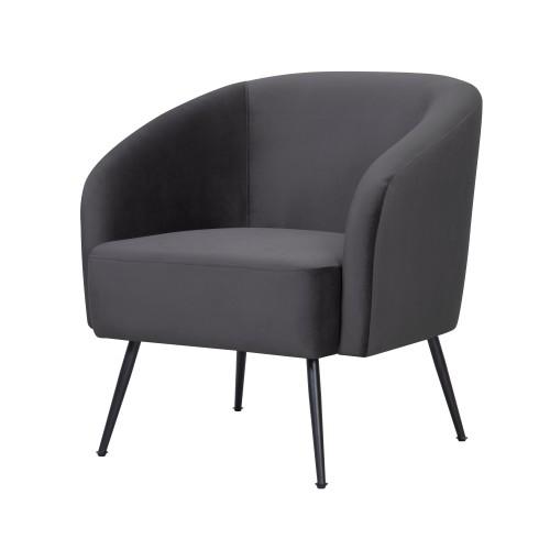 acheter fauteuil assise en velours pieds metal
