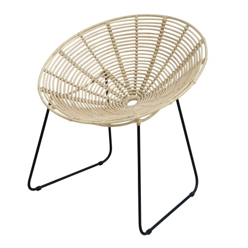acheter fauteuil assise rotin pied metal