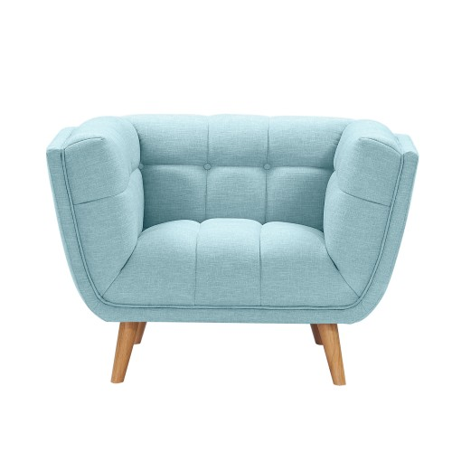 acheter fauteuil bleu clair tissu