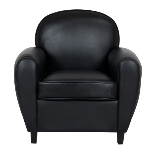 Fauteuil club William noir
