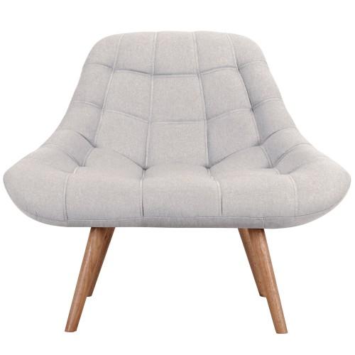 acheter fauteuil confortable gris clair