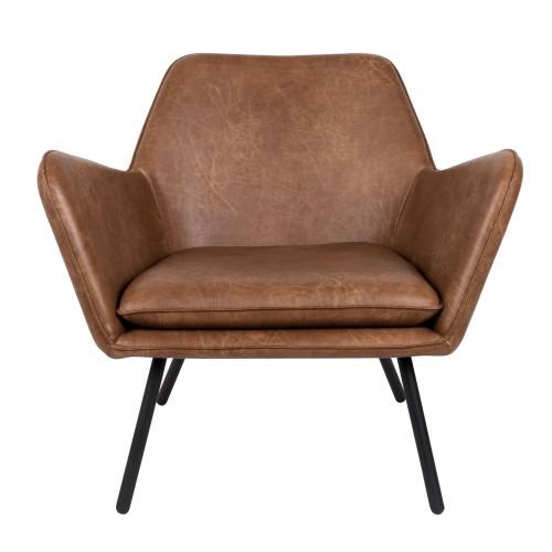 acheter fauteuil cuir marron