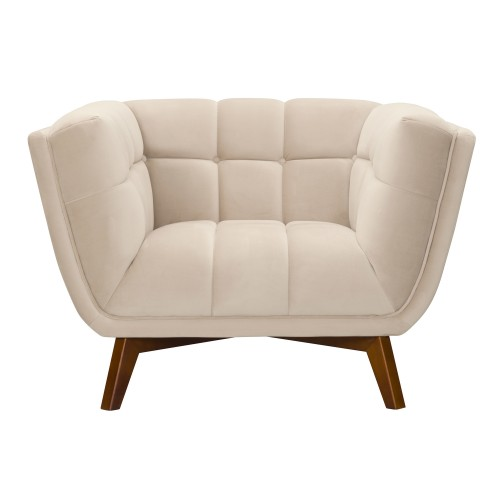 acheter fauteuil en velours beige