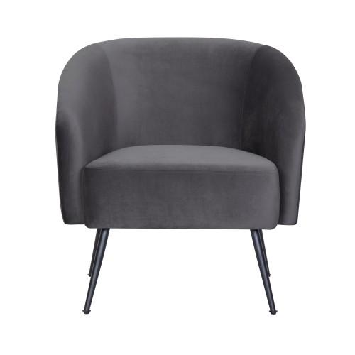 acheter fauteuil en velours gris