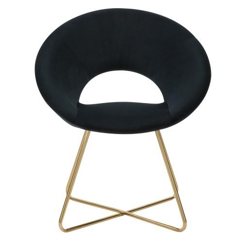 acheter fauteuil en velours noir art deco