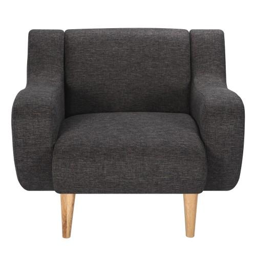 acheter fauteuil gris fonce pas cher